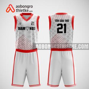 Mẫu quần áo bóng rổ thiết kế màu trắng đỏ star ABR163