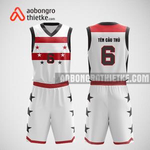 Mẫu quần áo bóng rổ thiết kế màu trắng đỏ star ABR275