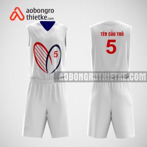 Mẫu quần áo bóng rổ thiết kế màu trắng heart ABR70