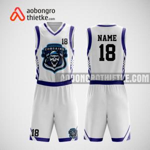 Mẫu quần áo bóng rổ thiết kế màu trắng tím pirates ABR162