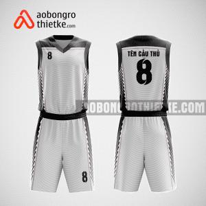 Mẫu quần áo bóng rổ thiết kế màu trắng white ABR100