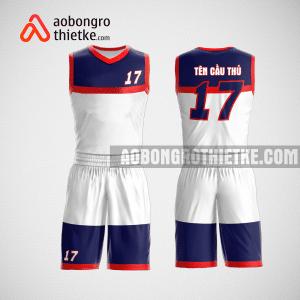 Mẫu quần áo bóng rổ thiết kế màu trắng xanh ABR147