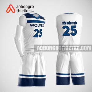 Mẫu quần áo bóng rổ thiết kế màu trắng xanh ABR151