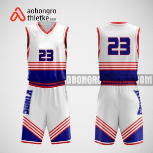 Mẫu quần áo bóng rổ thiết kế màu trắng xanh ABR69