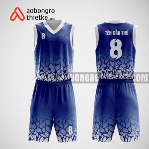 Mẫu quần áo bóng rổ thiết kế màu trắng xanh Swish ABR72
