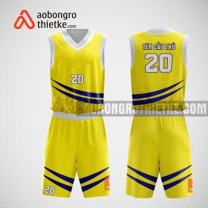 Mẫu quần áo bóng rổ thiết kế màu vàng đen ABR189