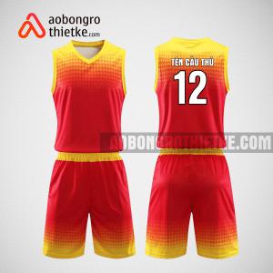 Mẫu quần áo bóng rổ thiết kế màu vàng đen ABR217