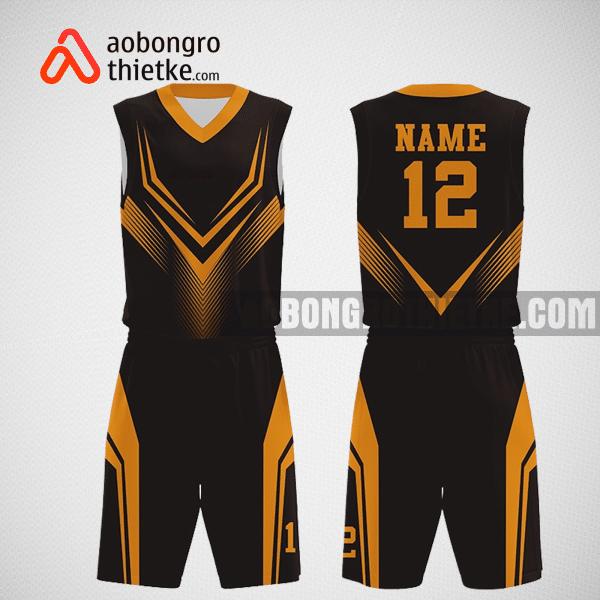 Mẫu quần áo bóng rổ thiết kế màu vàng đen ABR290