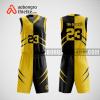 Mẫu quần áo bóng rổ thiết kế màu vàng đen black yelllow ABR179