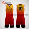 Mẫu quần áo bóng rổ thiết kế màu vàng đen buck ABR294