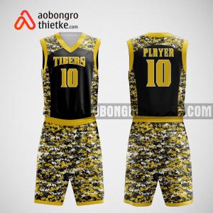 Mẫu quần áo bóng rổ thiết kế màu vàng đen tiger ABR75