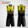 Mẫu quần áo bóng rổ thiết kế màu vàng đen yellow lion ABR170