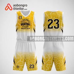 Mẫu quần áo bóng rổ thiết kế màu vàng trắng basketball ABR258