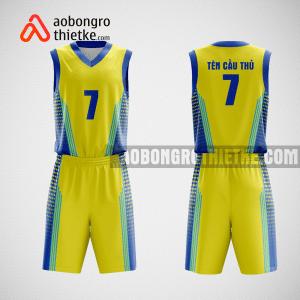 Mẫu quần áo bóng rổ thiết kế màu vàng xanh AMA ABR79