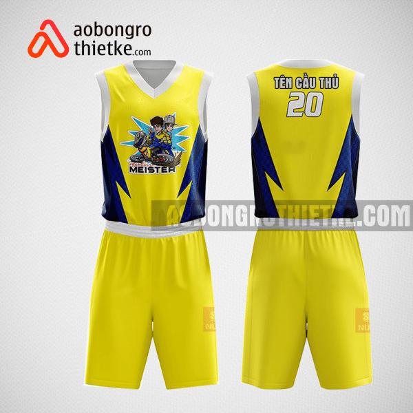 Mẫu quần áo bóng rổ thiết kế màu vàng yellowlion ABR186