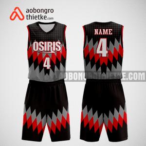 Mẫu quần áo bóng rổ thiết kế màu xám đen đỏ buck ABR265