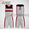 Mẫu quần áo bóng rổ thiết kế màu xám đỏ đen bull ABR295