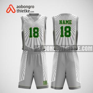 Mẫu quần áo bóng rổ thiết kế màu xám trắng ion ABR219