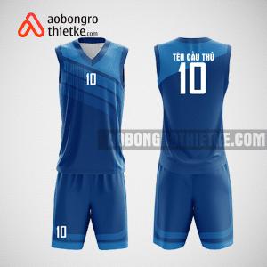 Mẫu quần áo bóng rổ thiết kế màu xanh ABR206