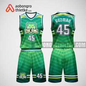 Mẫu quần áo bóng rổ thiết kế màu xanh THE KING ABR78