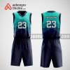Mẫu quần áo bóng rổ thiết kế màu xanh bitch ABR168