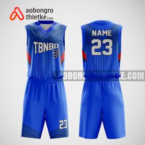 Mẫu quần áo bóng rổ thiết kế màu xanh blue ABR88