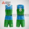 Mẫu quần áo bóng rổ thiết kế màu xanh blue green ABR87