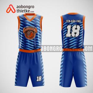 Mẫu quần áo bóng rổ thiết kế màu xanh cam ABR122