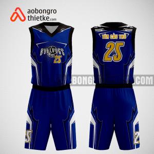 Mẫu quần áo bóng rổ thiết kế màu xanh đen Swish ABR82