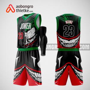 Mẫu quần áo bóng rổ thiết kế màu xanh đen đỏ riter ABR164
