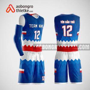 Mẫu quần áo bóng rổ thiết kế màu xanh đỏ trắng ABR155