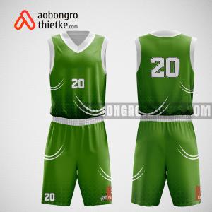 Mẫu quần áo bóng rổ thiết kế màu xanh green ABR191
