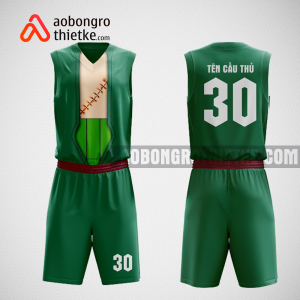 Mẫu quần áo bóng rổ thiết kế màu xanh green Swish ABR77