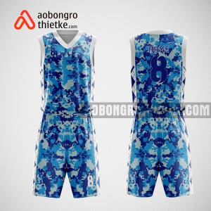 Mẫu quần áo bóng rổ thiết kế màu xanh trắng ABR121
