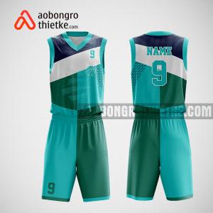 Mẫu quần áo bóng rổ thiết kế màu xanh trắng ABR210
