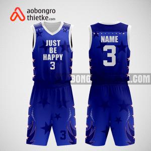 Mẫu quần áo bóng rổ thiết kế màu xanh trắng ABR282