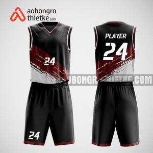 Mẫu quần áo bóng rổ thiết kế màu xanh trắng WORLDS ABR111