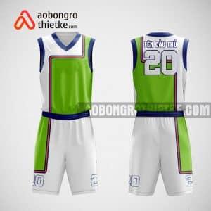 Mẫu quần áo bóng rổ thiết kế màu xanh trắng White ABR22