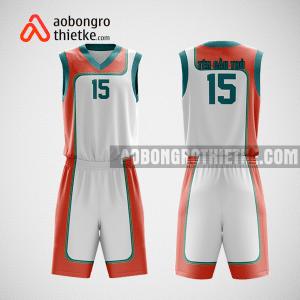 Mẫu quần áo bóng rổ thiết kế màu xanh trắng cam mysth ABR222
