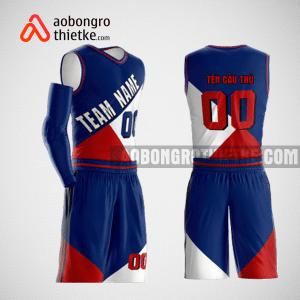 Mẫu quần áo bóng rổ thiết kế màu xanh trắng đỏ ABR158