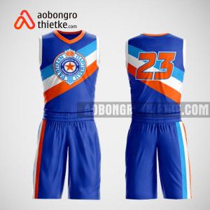 Mẫu quần áo bóng rổ thiết kế màu xanh trắng eagle blue ABR230