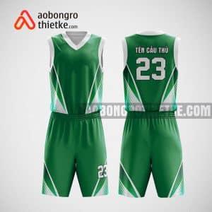 Mẫu quần áo bóng rổ thiết kế màu xanh trắng green ABR20