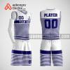 Mẫu quần áo bóng rổ thiết kế màu xanh trắng white ABR139