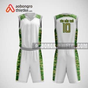 Mẫu quần áo bóng rổ thiết kế màu xanh trắng white ABR24