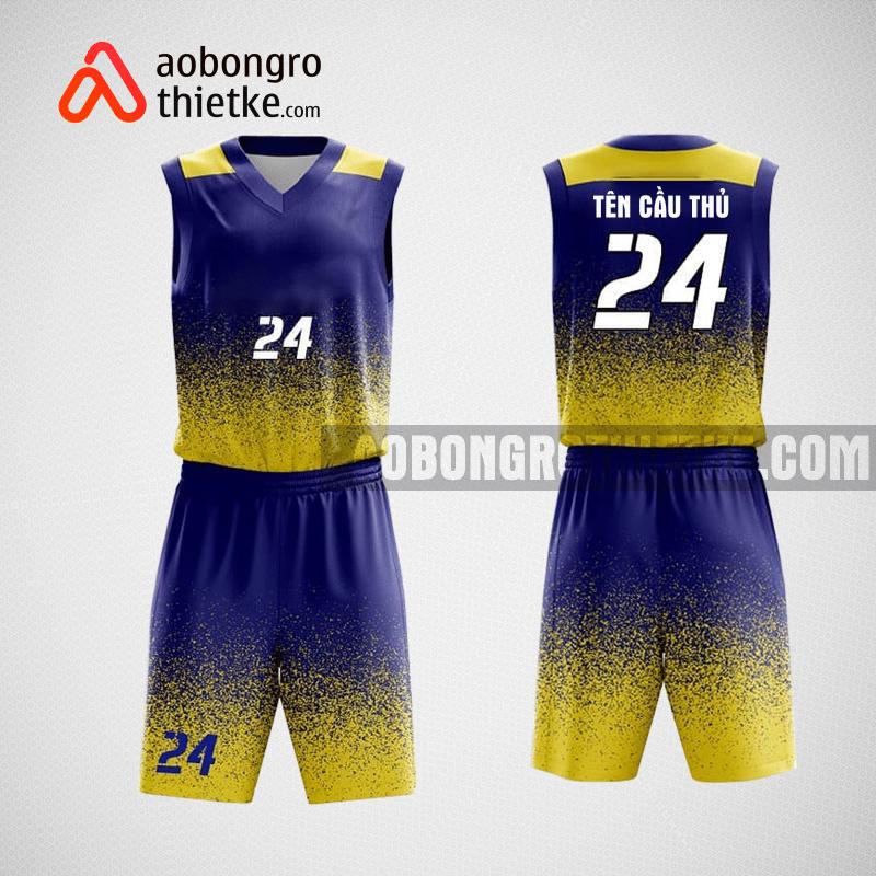 Mẫu quần áo bóng rổ thiết kế màu xanh vàng ABR116