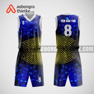Mẫu quần áo bóng rổ thiết kế màu xanh vàng ABR85