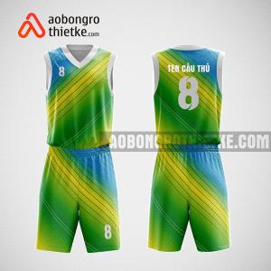 Mẫu quần áo bóng rổ thiết kế màu xanh vàng GREEOW ABR96