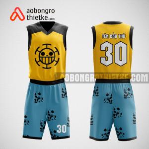 Mẫu quần áo bóng rổ thiết kế màu xanh vàng đen rotation ABR120