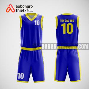 Mẫu quần áo bóng rổ thiết kế màu xanh vàng golia ABR132