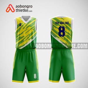 Mẫu quần áo bóng rổ thiết kế màu xanh vàng greeyellow ABR102